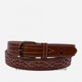Cinturón rociero piel estrecho