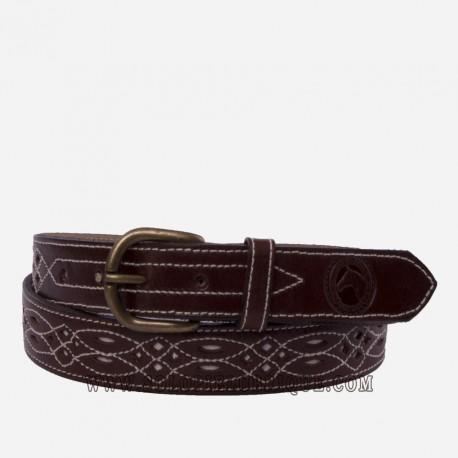 el más nuevo 44701 f0611 Cinturon rociero de piel para mujer y hombre barato de Piel Ubrique