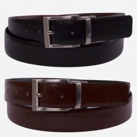 Cinturón de piel reversible