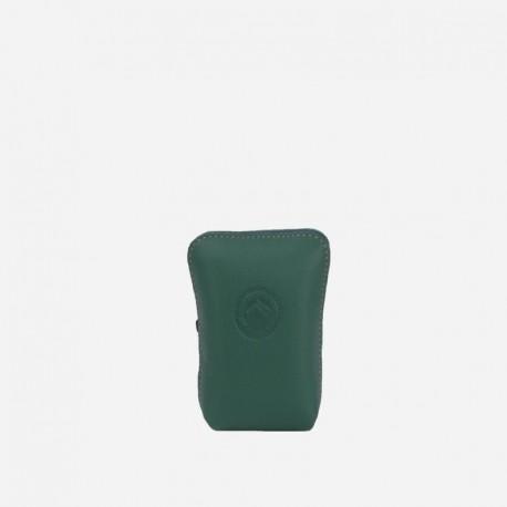 Pitilleras de cuero verde frontal