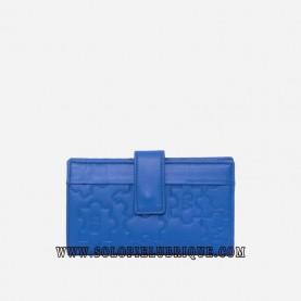 Billetera mujer azul frontal