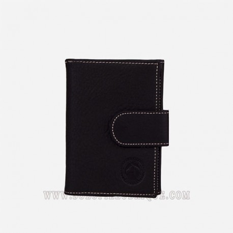 Cartera monedero negra frontal