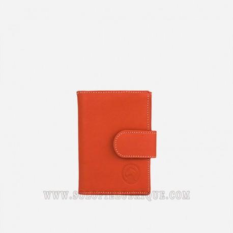 comprar cartera mujer naranja frontal