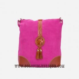 Bandolera mujer rosa