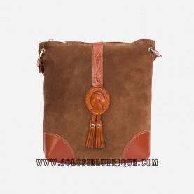 Bolsos bandolera color marrón parte delantera