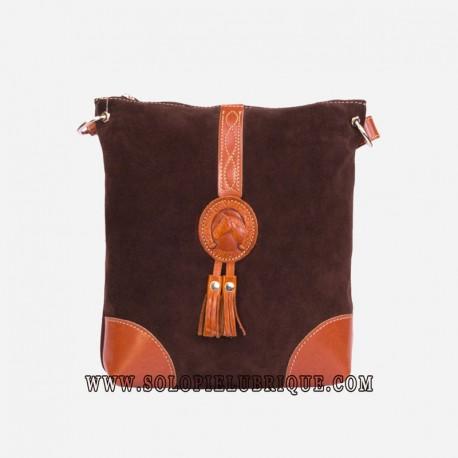 Bolsos bandolera color marrón oscuro parte delantera