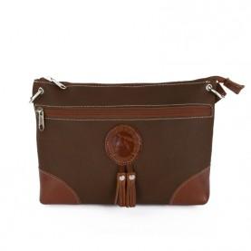 Bolso cuero mujer marrón